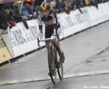 Sanne Cant overcame early crashes to finish third © Bart Hazen