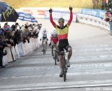 Sven Nys wins 2012 World Cup Roubaix © Bart Hazen