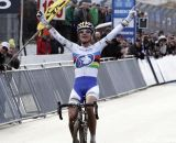 Marianne Vos, shown here winning at Zolder, took the final World Cup round today at Hoogerheide  © Bart Hazen
