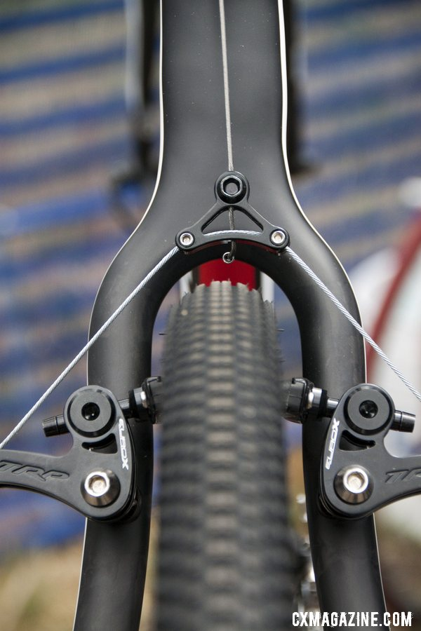 Rear triangle on the cantilever-equipped 2013 BH Bikes RX Team carbon cyclocross bike. © Cyclocross Magazine