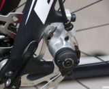 The bike was showing Shimano M505 mechanical disc brakes, but BH says CX75 brakes will be used when available. © Cyclocross Magazine