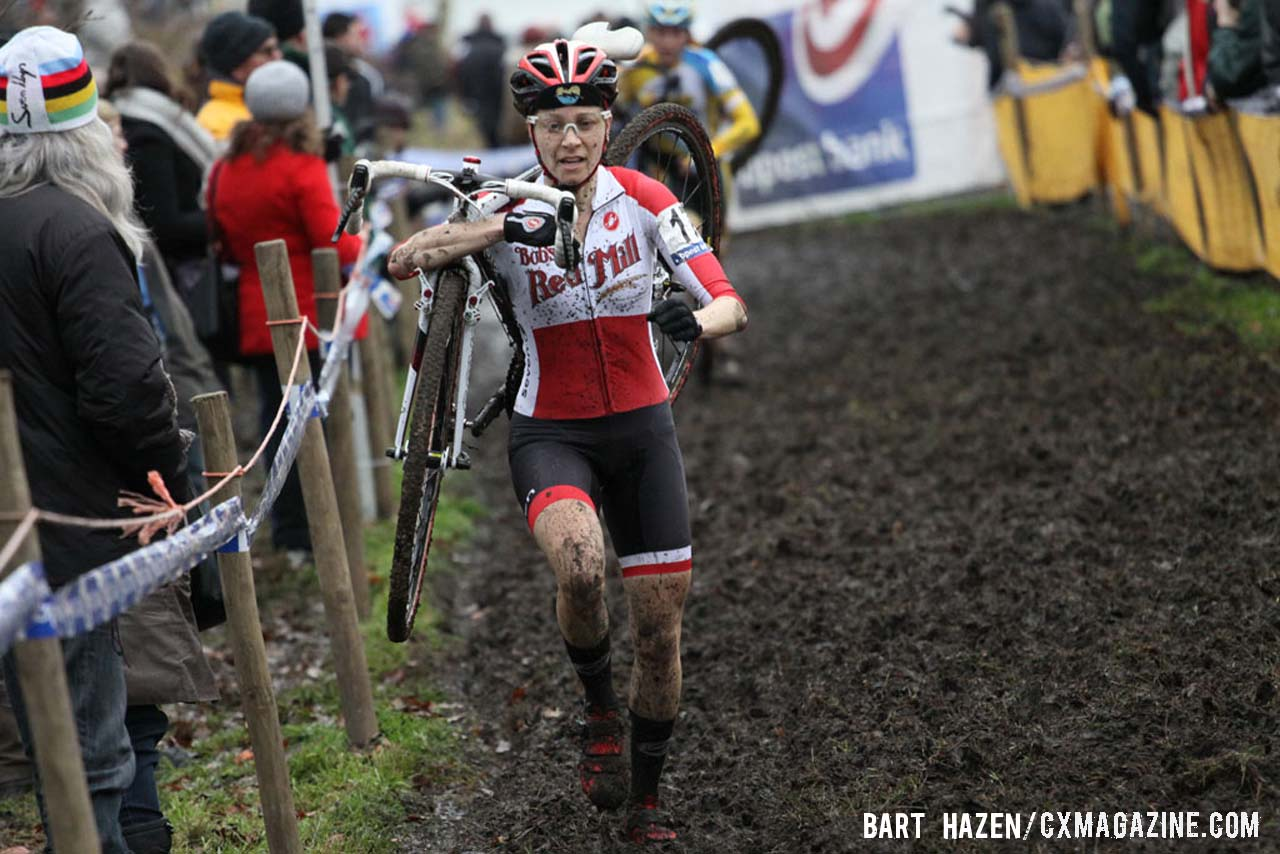 Maureen Bruno Roy (Bob\'s Red Mill p/b Seven Cycles) was one of the top 10 finishers. © Bart Hazen / Cyclocross Magazine