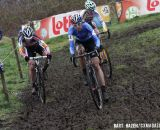 Sanne Cant, Helen Wyman and Nikki Harris battled it out for podium positions. © Bart Hazen / Cyclocross Magazine