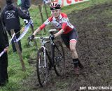 Maureen Bruno Roy (Bob's Red Mill p/b Seven Cycles) running one of the mud sections. © Bart Hazen / Cyclocross Magazine