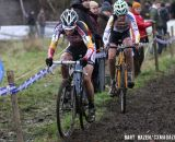 Sanne Cant and Nikki Harris following Helen Wyman. © Bart Hazen / Cyclocross Magazine