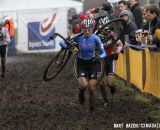 Helen Wyman leads Sanne Cant with Nikki Harris close behind. © Bart Hazen / Cyclocross Magazine