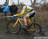 Sophie de Boer (Young Telenet-Fidea) handles the deep mud. © Bart Hazen / Cyclocross Magazine