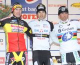 The Podium: Niels Albert, Klaas Vantornout, Sven Nys © Bart Hazen