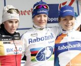 The Podium: Marianne Vos, Sanne Cant, and Sanne van Paassen © Bart Hazen