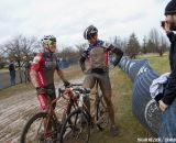 Donald Myrah  and Tim Butler (Evolution Racing Team-WA) chatting with CX Magazine after a one-two finish.  ©Brian Nelson