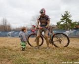 Anastasio Flores (California Giant Berry Farms/Specialized) and his son.  ©Brian Nelson