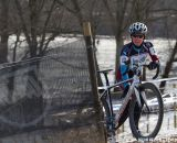 Susan Prieto (Blue Sky Velo) battled conditions and an incredably strong field of racers.