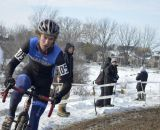 Andrew Dillman raced to another podium, finishing 4th in the Collegiate D1 Men, 2013 Cyclocross National Championships. © Cyclocross Magazine
