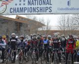 The start of the Collegiate D1 Men, 2013 Cyclocross National Championships. © Cyclocross Magazine