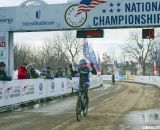 D2 Champ Erica Zaveta of Brevard College raced at the same pace as Antonneau and caught all D1 racers but her.  2013 Cyclocross National Championships. © Cyclocross Magazine