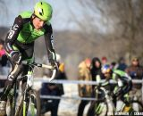 Ryan Trebon works hard to get back into the mix at 2013 Cyclocross National Championships.© Meg McMahon