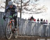 It's lonely at the front for Jonathan Page at 2013 Cyclocross National Championships.© Meg McMahon