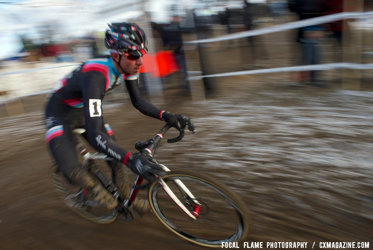 Powers found his legs late to surge through the field and secure a 6th place. Elite Men. 2013 National Championships. © Focal Flame Photography
