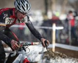 Garrett Gerchar from Boulder race to 12th. Junior Men 17-18, 2013 Cyclocross National Championship. © Meg McMahon