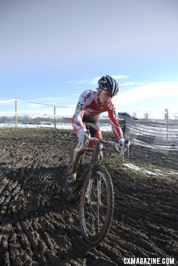 Owen in the clear on lap 1. Junior 17-18 men, 2013 Cyclocross National Championships. © Cyclocross Magazine