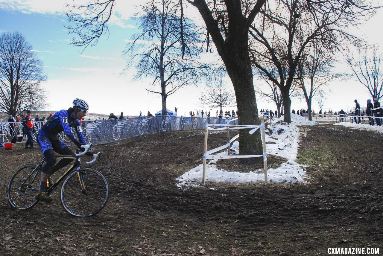 Curtis White with a strong ride to finish second. Junior 17-18 men, 2013 Cyclocross National Championships. © Cyclocross Magazine
