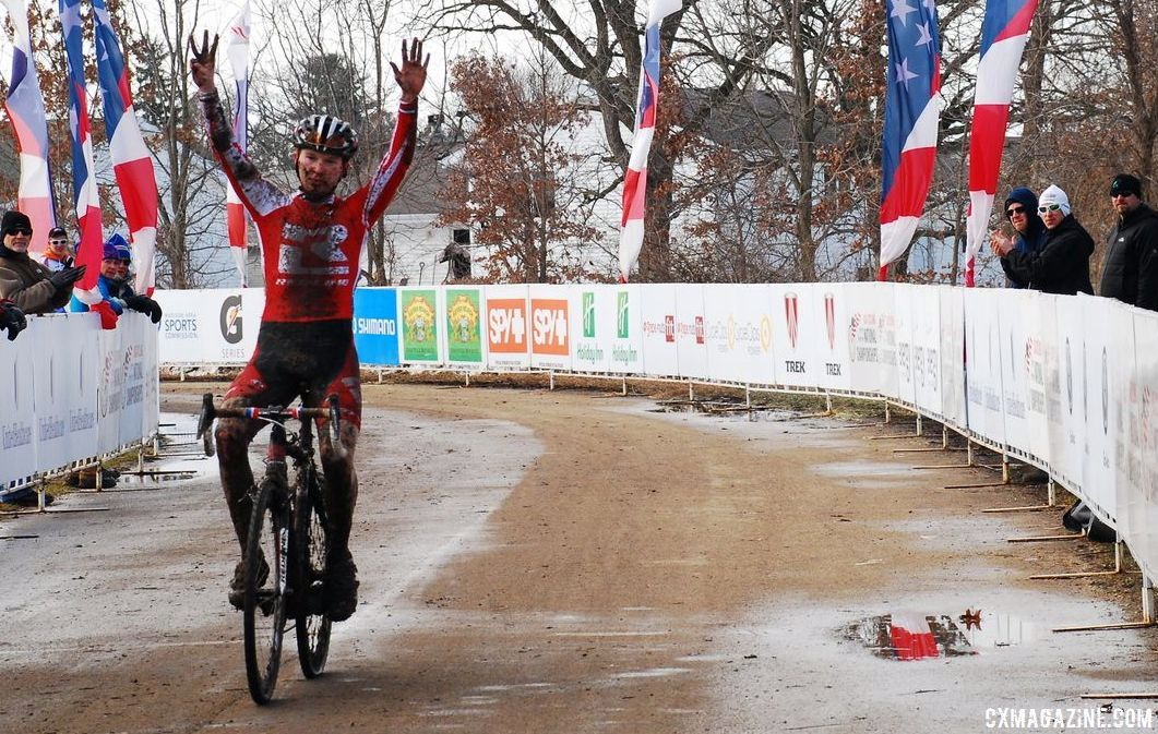 Owen wins his eigth national championships in a row. © Cyclocross Magazine
