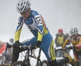 Ryan Aittaniemi flying the colors of cyclocross powerhouse Corner Cycle Cycling Club for 11th place. © Meg McMahon