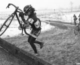 Courtney Comer uncorked a huge sprint to win by a comfortable margin and take the Junior Women 13-14 title. © Cyclocross Magazine