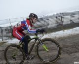 Emma White alone in the lead in her title defense of the Junior Women 15-16 crown. © Cyclocross Magazine