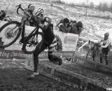 Russel Stevenson runs away to a Masters 35-39 title.. 2013 Cyclocross Nationals.© Cyclocross Magazine
