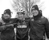The happy Boulder Cycle Sport team of Stevenson, surrounded by Dwight and Webber. © Cyclocross Magazine