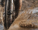 There was plenty of mud and puddles to freeze the feet. Masters Men 40-44, 2013 Cyclocross Nationals.  © Meg McMahon