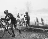 Cariveau chasing Butler and leading Myrah. Masters 45-49, 2013 Nationals. © Cyclocross Magazine
