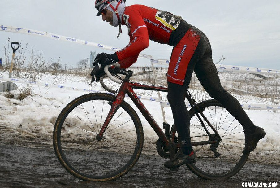 Bob Downs won on his local course. ©Cyclocross Magazine