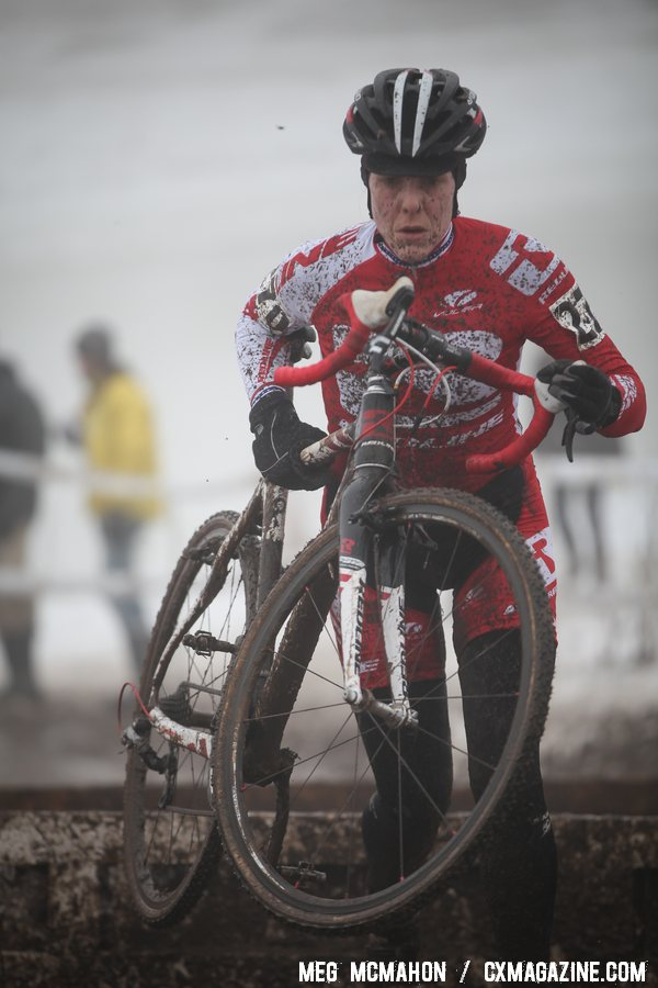 Studley was patient but took control quickly. Masters Women 30-34, 2013 Cyclocross Nationals. © Meg McMahon