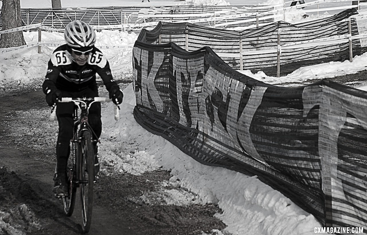 Diane Ostenso wins another title in a new (60+) age group. 2013 Cyclocross National Championships. ©Cyclocross Magazine