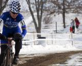 Sarvary in command to defend her 55-59 national championships title. ©Cyclocross Magazine