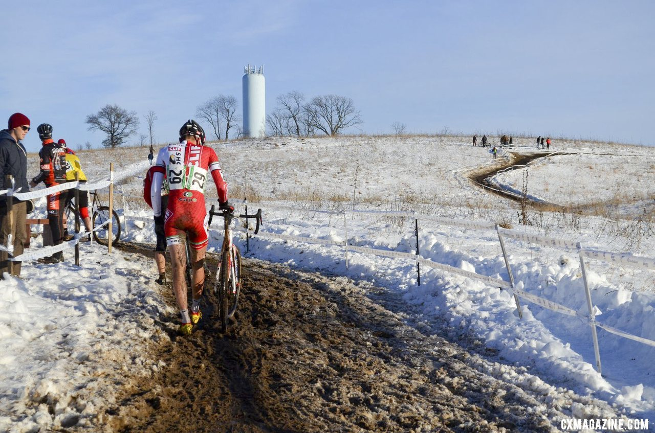 Brady Kappius had a mechanical for the second straight year (broken tensioner).© Cyclocross Magazine