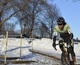Aaron Bradford had a fast start before a softening rear tire struck. © Cyclocross Magazine