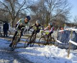 Bradford's teammate Scott Chapin leading the chase of the leaders. © Cyclocross Magazine