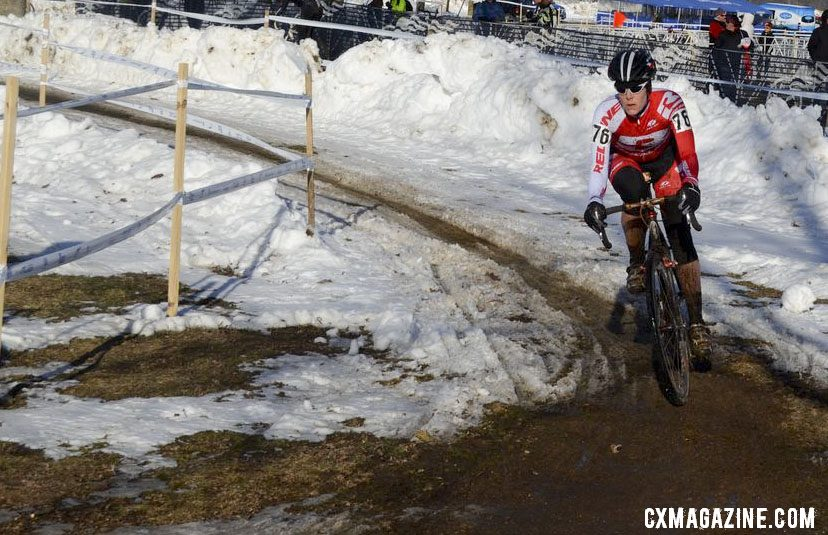 Kari Studley off to an early, big lead. Singlespeed Women. © Cyclocross Magazine
