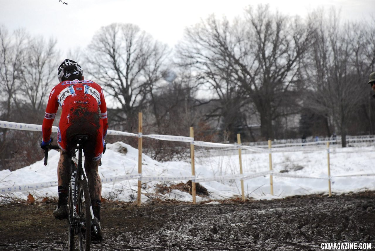 Tobin Ortenblad was patient before a last lap surge. U23 Men, 2013 Cyclocross National Championships. © Cyclocross Magazine