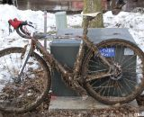 The mud made pit bikes essential. U23 Men, 2013 Cyclocross National Championships. © Cyclocross Magazine