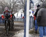 The battle for the podium between Johnson and Trujillo.  © Cyclocross Magazine