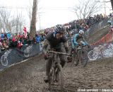 Francis Mourey and Kevin Pauwels animate the early race. © Nathan Hofferber