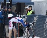 A disappointing end to a great year for Owen. 2013 Cyclocross World Championships, Junior Men. © Cyclocross Magazine