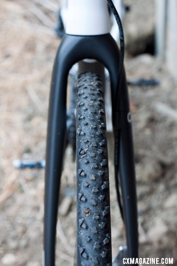 Specialized\'s Terra tubular - Don Myrah\'s Ibis Hakkalugi Disc Cyclocross Bike. ©Cyclocross Magazine