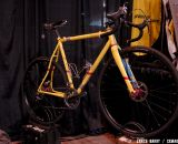Six Eleven's 2013 NAHBS S&S Coupled cyclocross bike for Jon Woodroof, with Retroshift shifters. © Lance Barry