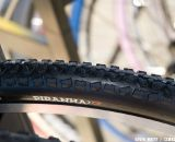 Hutchinson's dry terrain race tire, the Piranah2 CX wil shrink to 32mm in width in both clincler and tubular versions with a 34mm wire bead version also avaliable. © Kevin White