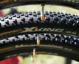 Continental said they're finally going to have full production of their long-awaited cyclocross tubulars, and they will featuring a pattern very similar to this XKing mountain bike tire.
